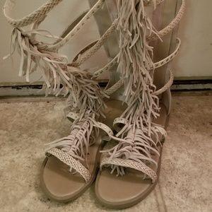 ALDO  Knee High Gladiator Sandals Sz 7.5
